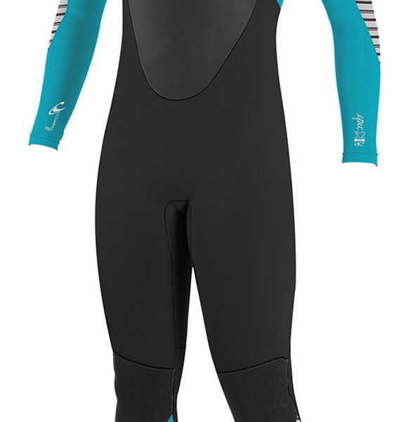 O-Neill-Womens-Epic-5-4mm-Back-Zip-GBS-Wetsuit-BLACK-STRIPE-4218